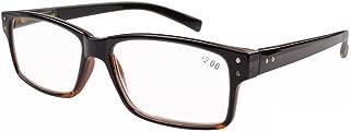 Eyekepper Spring Hinges Vintage Reading Glasses Men Readers Black-Yellow Torotoise Frame +0.5