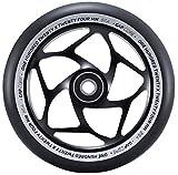 Blunt Gap Core Stunt-Scooter Rolle Abec9 Wheel 120mm +Fantic26 Sticker (Schwarz/Pu Schwarz)