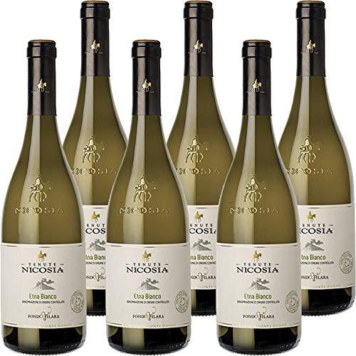 Etna Bianco Fondo Filara | Biologico | Tenute Nicosia | Vino Bianco Doc della Sicilia | Confezione 6 Bottiglie da 75 Cl | Idea Regalo