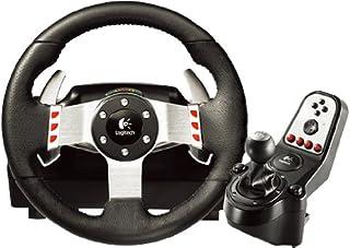 Logitech G27 - Juego de Volante de Cuero, Pedales y Cambio de Marchas para Juegos de Carreras (Gaming, 2 Motores, 6 velocidades, Compatible con PC o PS3), Negro