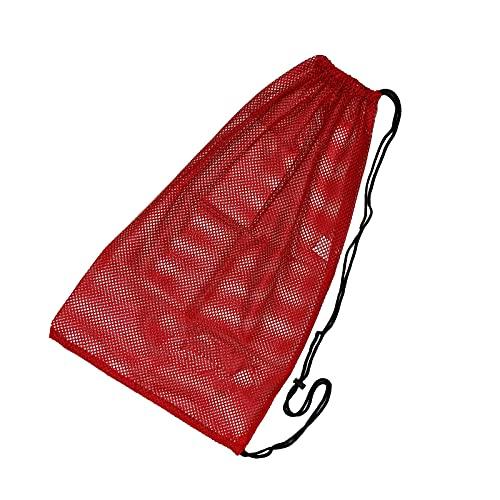 Litulituhallo - Sacchetti in organza, piccoli sacchetti per gioielli, per nuoto, spiaggia, immersioni, viaggi, palestra, colore: rosso