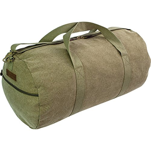 Highlander Canvas Holdall 45 Litre Olive Green Army Style Soft Canvas