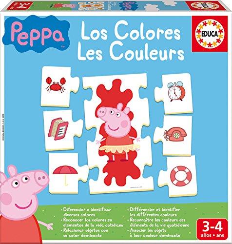 Educa- Aprendo Los Colores Peppa Pig Juego Educativo para niños, a Partir de 3 años (16225)