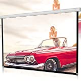 72'' HD Projector Screen, Portable Foldable Outdoor Indoor Wall-Mounted Theater Projector Screen Movie Screen for Home Theater Camping and Recreational Events