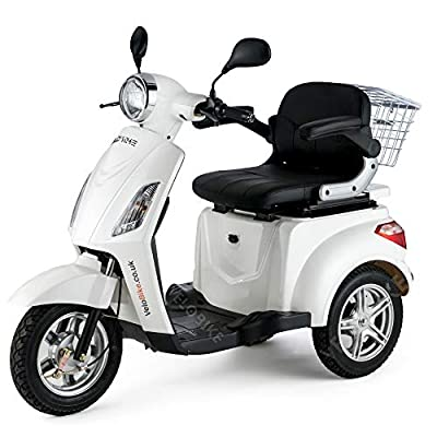 Mobility Scooter Electric Mobile – Senior Model Car Electric Tricycle 8mph / 16 mph WHITE