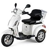 Voiture électrique - Véhicule pour senior - Tricycle électrique - 25 Km/h - Blanc