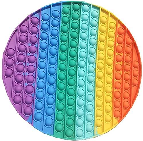 hwljxn Alivio de estrés Alivio de ansiedad Juguetes de Alivio, Color Arco Iris Squeeze Sensory Juguete para Adultos y niños (Color : C)