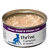 thrive Katze COMPLETE - 100% Hühnerbrust & Geflügelleber (12-er Pack)