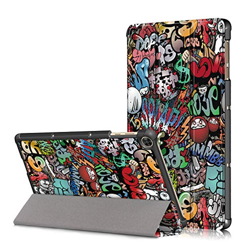 Xuanbeier Custodia per Huawei MatePad T10S 10.1 Pollici AGS3-L09 /W09 e T10 9.7 Pollici AGR-L09/W09 Ultra-Sottile Cover con Funzione Supporto,Graffiti