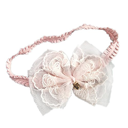 95sCloud 1 Stück Baby Kinder Haarband Blumen Mädchen Stirnband Kopfband Blumen Blüte Haarschmuck Headband Hairband Kopfband Neugeborenes Babygeschenke Party Taufe Geschenksets (Pink)