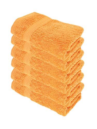 Julie Julsen Bio Handtuch-Set 6 STK. 50x100 Orange 100% Baumwolle Frotte 550g/m²