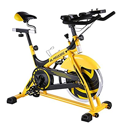 MaxKare Indoor Cycling Bike Trainer Spin Bike with 44lbs Flywheel Professional Stationary Bike Cycle Exercise Bike for Home Cardio Gym Workout