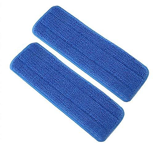 Hosaire 2Pcs Housse de Nettoyage de Rechange pour Balai Plat Nettoyage en Microfibre Bleu