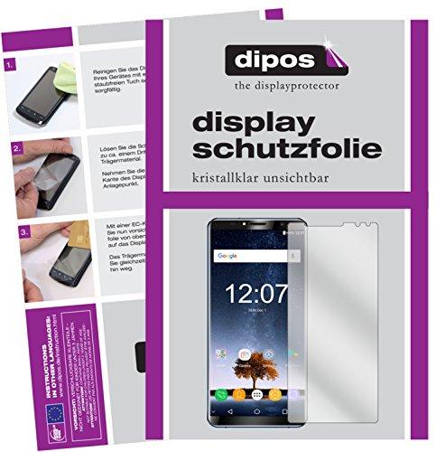 dipos I 6X Schutzfolie klar kompatibel mit Oukitel K6 Folie Bildschirmschutzfolie
