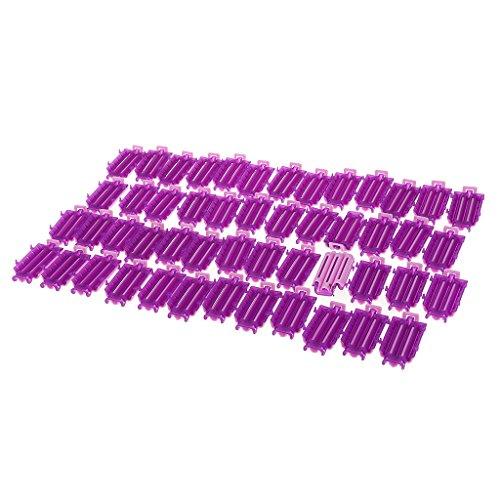 MagiDeal 50pcs Bigoudis à Permanentes Format de Poche en Plastique pour Salon de Coiffure
