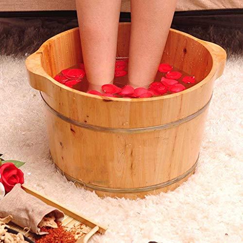 Great Deal! Cedar Wood Foot Bath Barrel, Adult Foot Bath Barrel Wooden Household Wash Basin Female M...