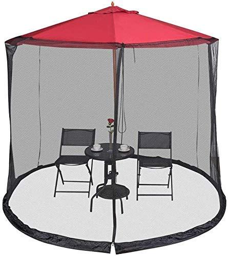 YAMMY Cubierta portátil para sombrilla de patio de 2,7 m para sombrilla de mesa de patio para sombrilla Gazebo - excluyendo paraguas a (red)