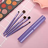 Fanxp Professional Purper Marble 5Pcs Travel Portable Eye Shadow Brush Set Makeup Brush, Lady Makeup Tools