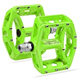 Mountain Bike Pedals MTB Pedals Bicycle Flat Pedals Aluminum 9/16' Sealed Bearing Lightweight Platform for Road Mountain BMX MTB Bike