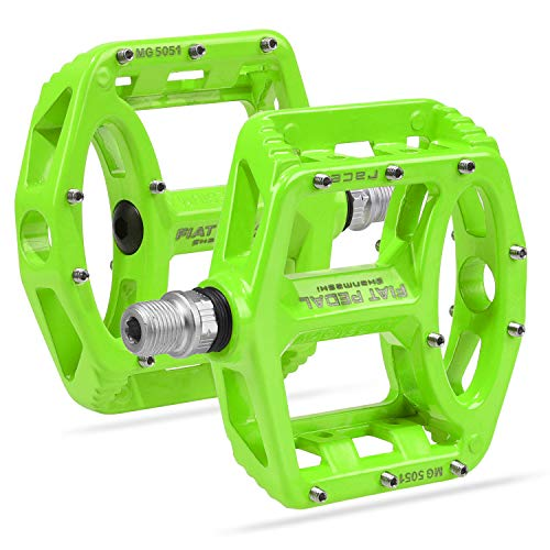 Vanfrost MTB Bike Pedal Mountain Bike Pedals with High-Strength Non-Slip Bicycle Pedals Surface (Green)