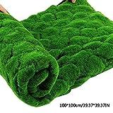 soundwinds Kunstrasen Rasen Grün Kunstrasen Teppich Gefälschte Faux Gras Matte Hausgarten Moos für Haus Boden DIY Hochzeitsdekoration Gras 100100 cm - 3