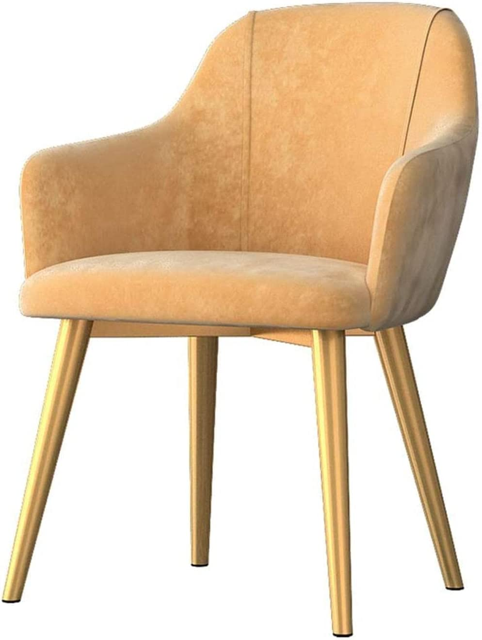 Chairs - Dining sold out Chair Yellow Velvet Seat Room Side low-pricing Cafe Living