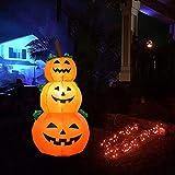 DishyKooker - Soporte Hinchable para Halloween, 1,2 m, Forma de Calabaza, para Decorar la Puerta del jardín o del Hotel