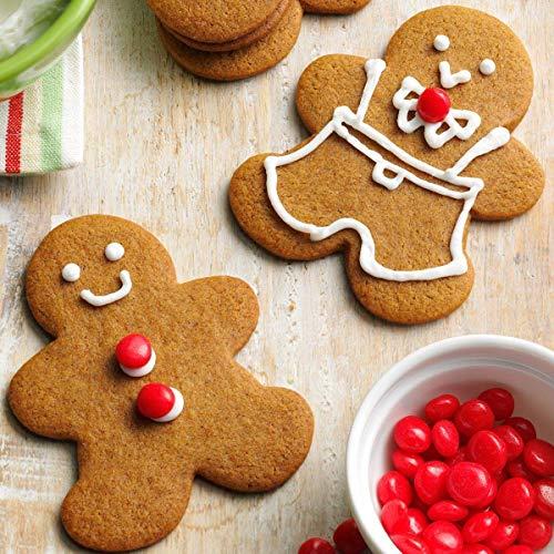 KENIAO Navidad Cortadores de Galletas Invierno Moldes para Galletas - 5 Piezas - Copo de Nieve, árbol de Navidad, Hombre de Pn de Jengibre, Papá Noel y Reno - Acero Inoxidable