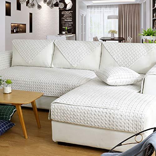 LH Baumwoll-Sofa-Handtuch Moderner Stoff Rutschfeste Ledersofa-Abdeckung Wohnzimmer-Kombination Four Seasons Universal Sofakissen All-Inclusive (Farbe : D, größe : 110×240cm)
