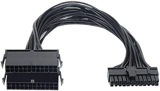 24 دبوس ذكر إلى أنثى PSU المزدوج كابل إمداد الطاقة PC ATX اللوحة الأم