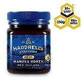 Haddrell's of Cambridge | Miel de Manuka UMF 20+ MGO 850+ | Nouvelle-Zélande Naturels De Première Qualité Miel Manuka | 250 grammes