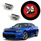 Eastfly Never Fade Car Door LED Logo for Dodge Projector Ghost Shadow Charger Magnum Puddle Courtesy Step Lights (6. Red Scat Pack Emblem for Charger)