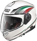 Nolan N104Absolute Italy casco de moto Modular de policarbonato con sistema N-Com color blanco metalizado