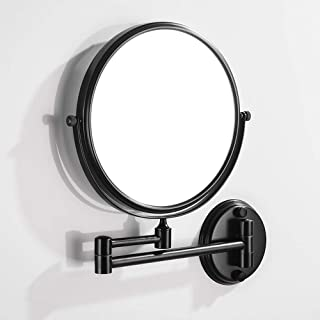 Wall Mounted Bath Mirrors Rotary Adjustment Vanity Mirrors Antique Bronze Magnifier Mirrors Shaving Mirrors Bathroom Accessories Hardware 5CD1 (Color : Gold, Size : S-15cm)