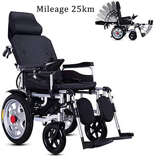 Draagbare, opvouwbare rolstoel, compact, ondersteunt de mobiliteit van wielen, elektrische rolstoel, elektrische rolstoel voor Vespa met pedalen en zadels, 20 Ah – 25 km.