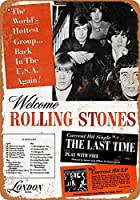Rolling Stones US Tour メタルサインメタルポスターポストカード注意看板装飾壁掛壁パネルカフェバーレストランシネマボールルームミュージックフェスティバル
