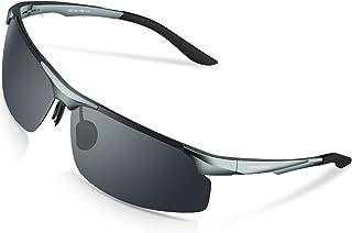 Torege 偏光レンズ スポーツサングラス 超軽量 アルミニウム・マグネシウム合金 UV400 紫外線カット スポーツサングラス/ 自転車/釣り/野球/テニス/スキー/ランニング/ゴルフ/ドライブ M291