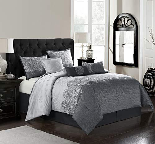 Stratford Park Circle Art Comforter Set, Cal King, Grey