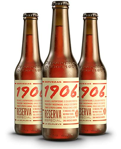 1906 Reserva Especial Cerveza - Pack de 24 botellas x 330 ml - Total: 7.92 L