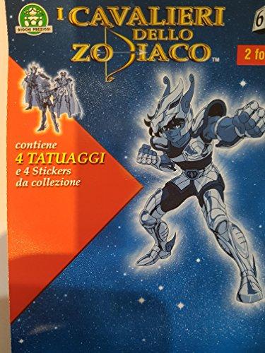 I Cavalieri dello Zodiaco 4 Tatuaggi 4 Stickers da Collezione Giochi Preziosi