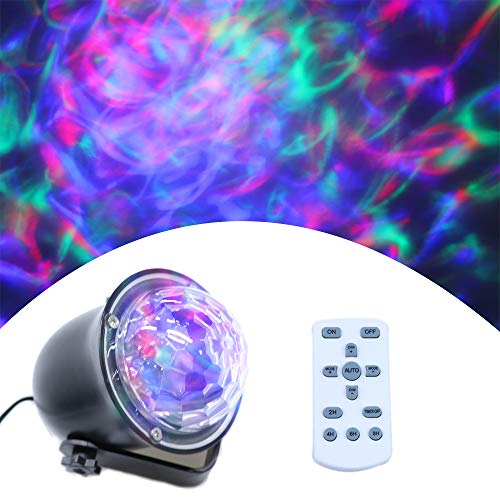 Water Wave Lights Projector - Outdoor Waterproof LED Ripple Garden Lights RGBW 15 Colors Water Effect with Remote for Christmas Halloween Garden Indoor Wedding Party Holiday Disco Kids.