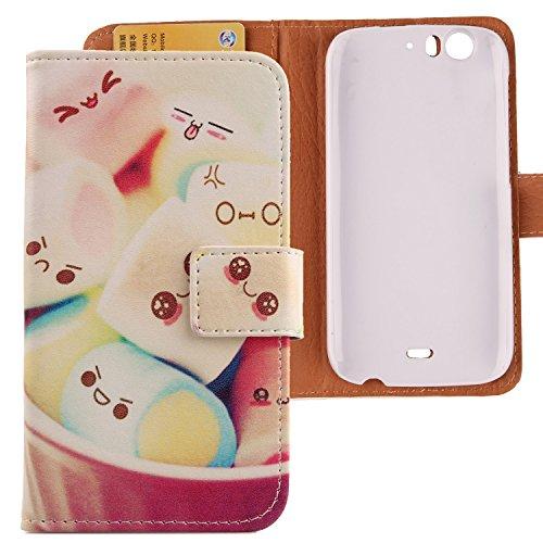 Lankashi PU Flip Leder Tasche Hülle Hülle Cover Schutz Handy Etui Skin Für WIKO Darkfull Lovely Design