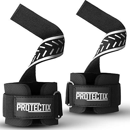 Protectix Zughilfen mit Neoprenpolster für Fitness, Krafttraining, Gewichtheben & Bodybuilding - Lifting Straps - für Frauen und Männer