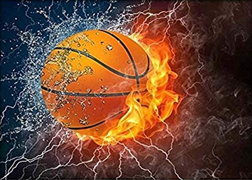 DIY 5D Diamant Malen nach Zahlen Kits Diymood Gemälde Basketball Malen mit Diamanten Kunst für Erwachsene Full Drill Leinwand Bild für Home Wall Decor 30 x 40 cm