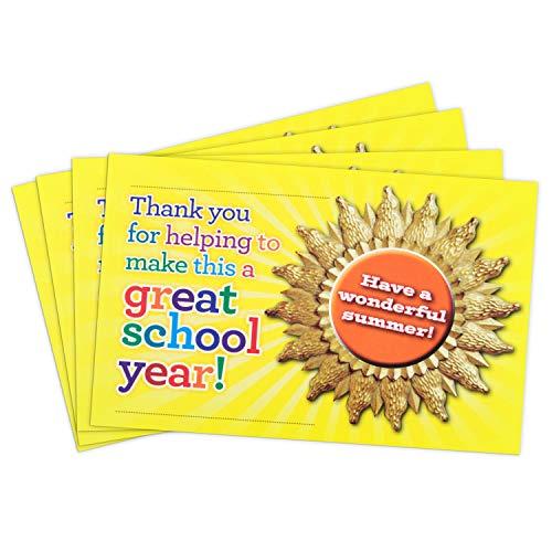 """Teacher Peach""""Wonderful Summer"""" Positive Postcards - Motivational Thank You Notes from Teachers - Classroom Teaching Supplies for Preschool, Kindergarten, or Elementary School Teachers - 50 Cards…"""