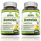 Herbal Secrets Bromelain 500 Mg 240 Tablets (Non-GMO)- Proteolytic Enzyme* Anti-Inflammatory Properties* Support Joint Health* Promotes Nutrient Absorption*