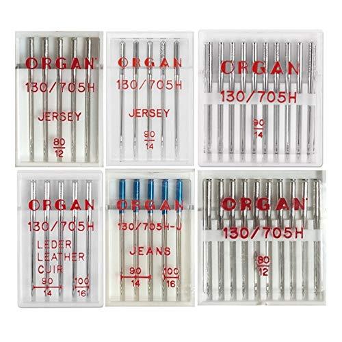 Organ Nadelsortiment Jersey/ Jeans/ Leder/ Universal/ System 130/705H/40 Nadeln