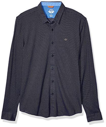 dockers Herren Ultimate Up Smart 360 Flex Shirt Button Down Hemd, Tiefblaues Nachtmuster, M