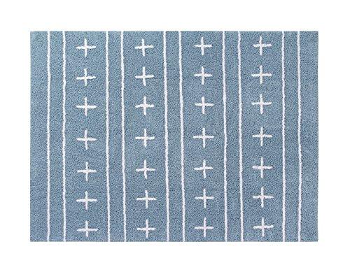 Happy Decor Kids hdk-249 Tapis lavable Shapes, blu-bianco, 120 x 160 cm