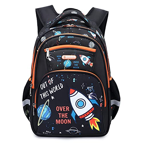 Kids Backpack for Boys Elementary Kindergarten Preschool School Bag 15.6″ Multifunctional Cute Large Capacity